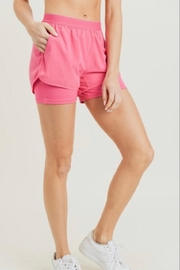 Mono B Pink Athletic Shorts - Product Mini Image