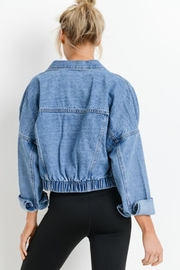 Mono B Raw & Ribbed Crop Denim Jacket - Side cropped