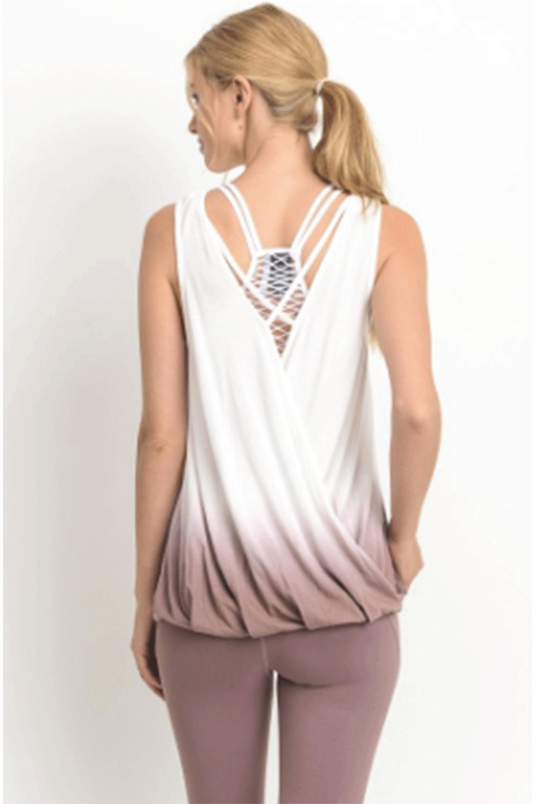 Mono B Reversable Dip-Dye Top - Front Full Image