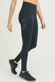 Mono B Rhinestone Star Leggings - Product Mini Image