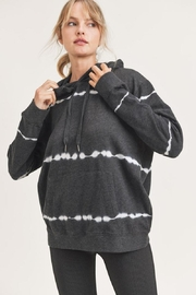 Mono B Shockwave Lines Tie-Dye Hoodie Pullover - Front cropped