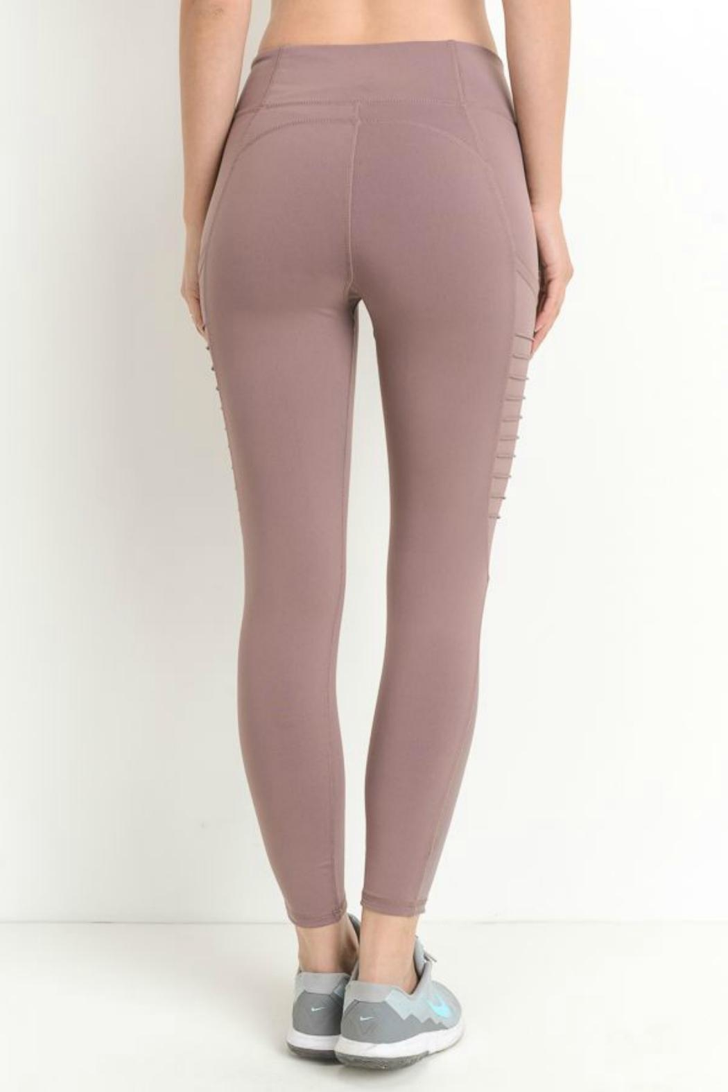 Mono B Side Mesh Legging - Side Cropped Image