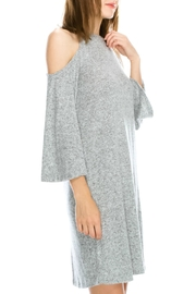 Mono B Soft Cold Shoulder Dress - Front full body