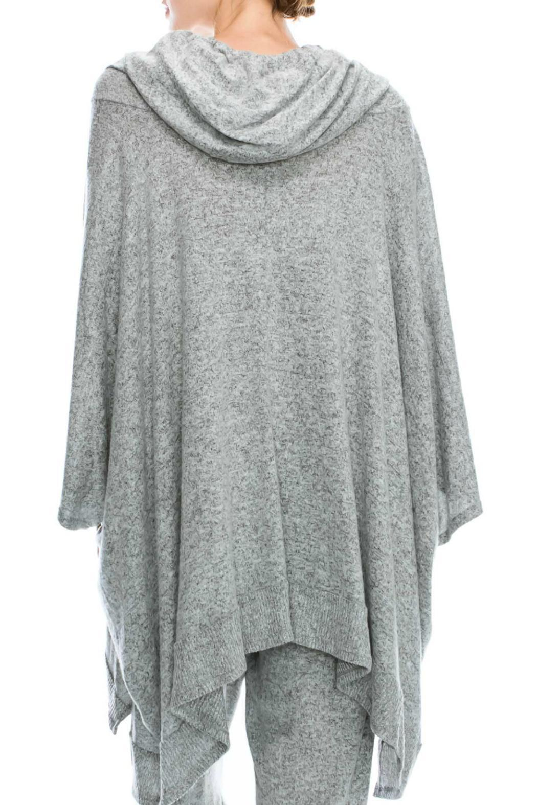 Mono B Soft Knit Poncho - Front Full Image