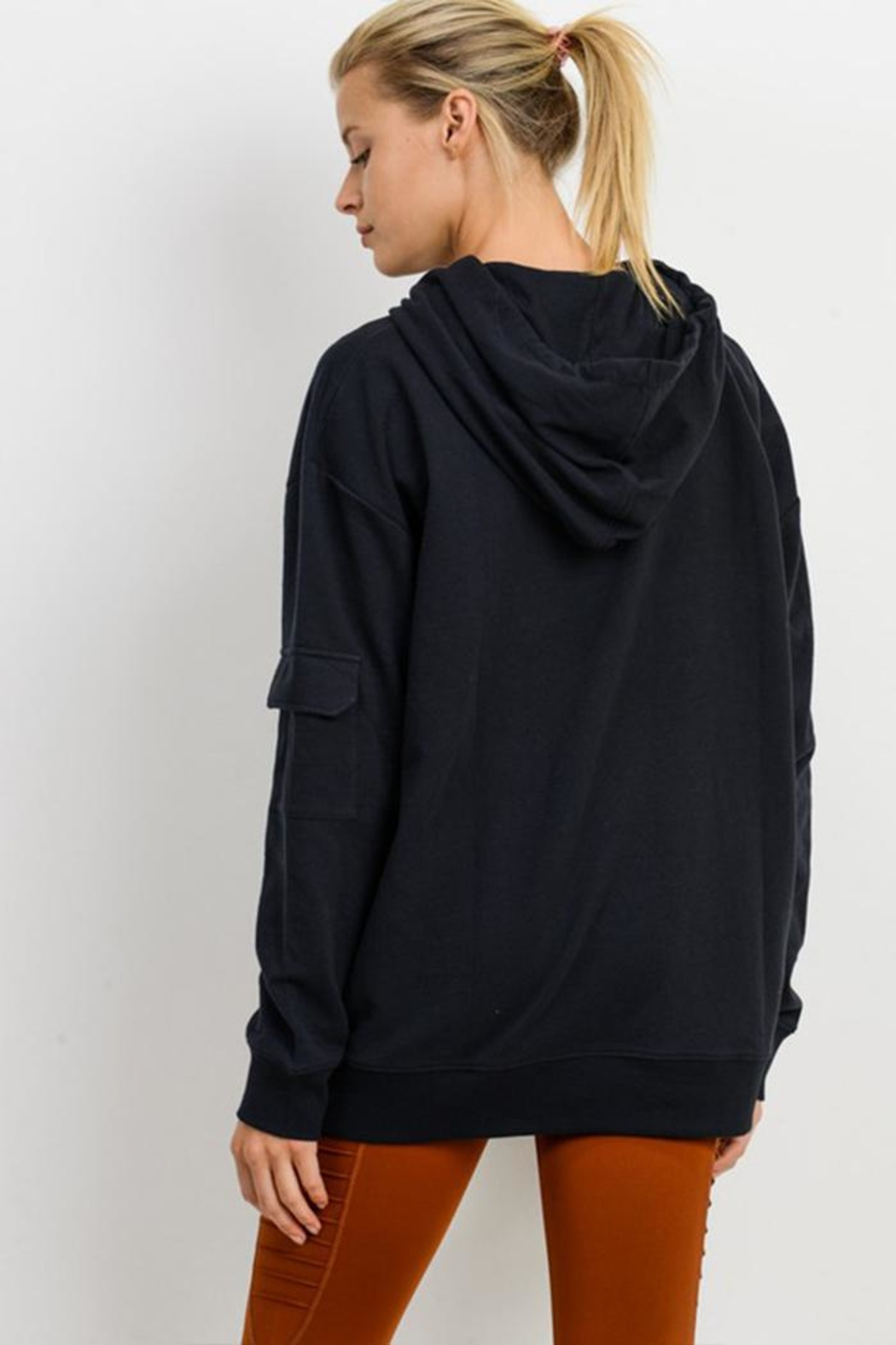 Mono B Soft Pullover Hoodie - Front Full Image