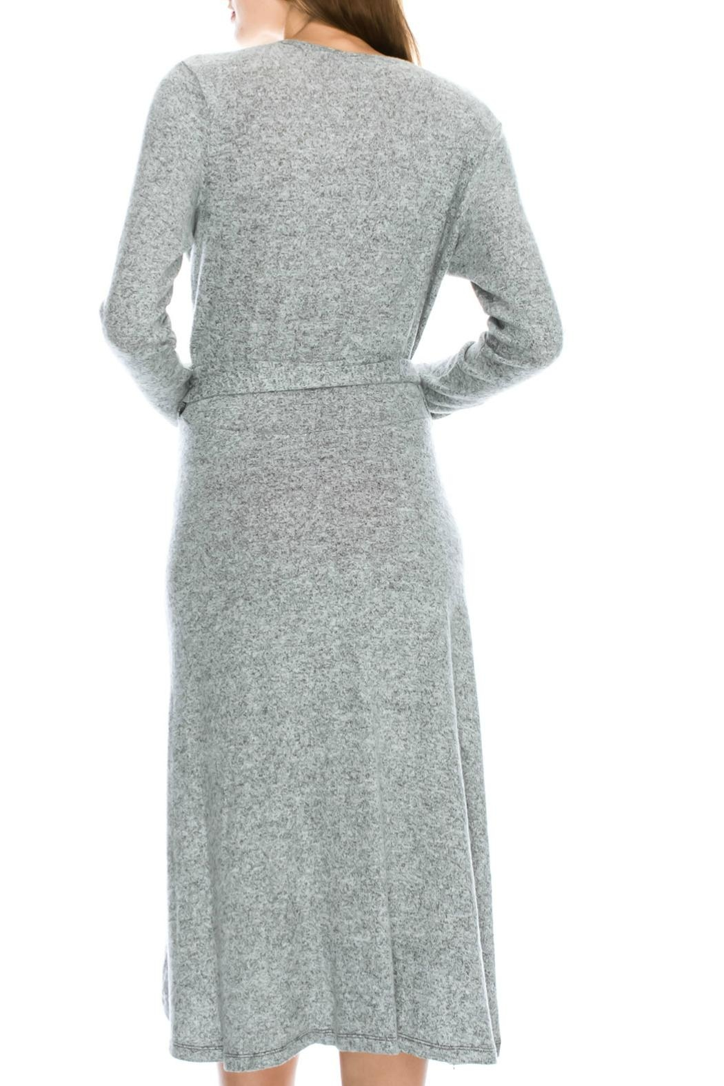 Mono B Soft Wrap Dress - Side Cropped Image