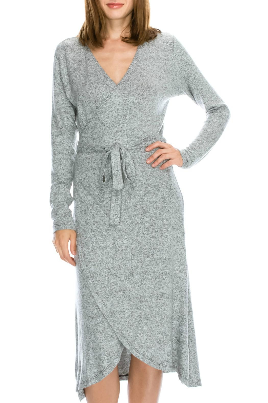 Mono B Soft Wrap Dress - Main Image