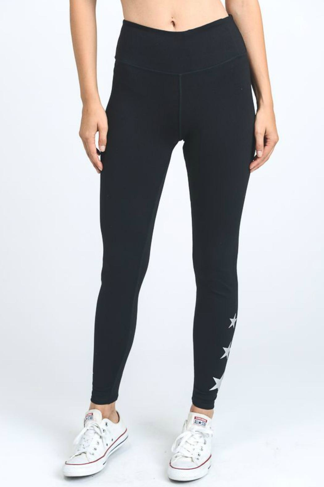 Mono B Star Accent Leggings - Side Cropped Image
