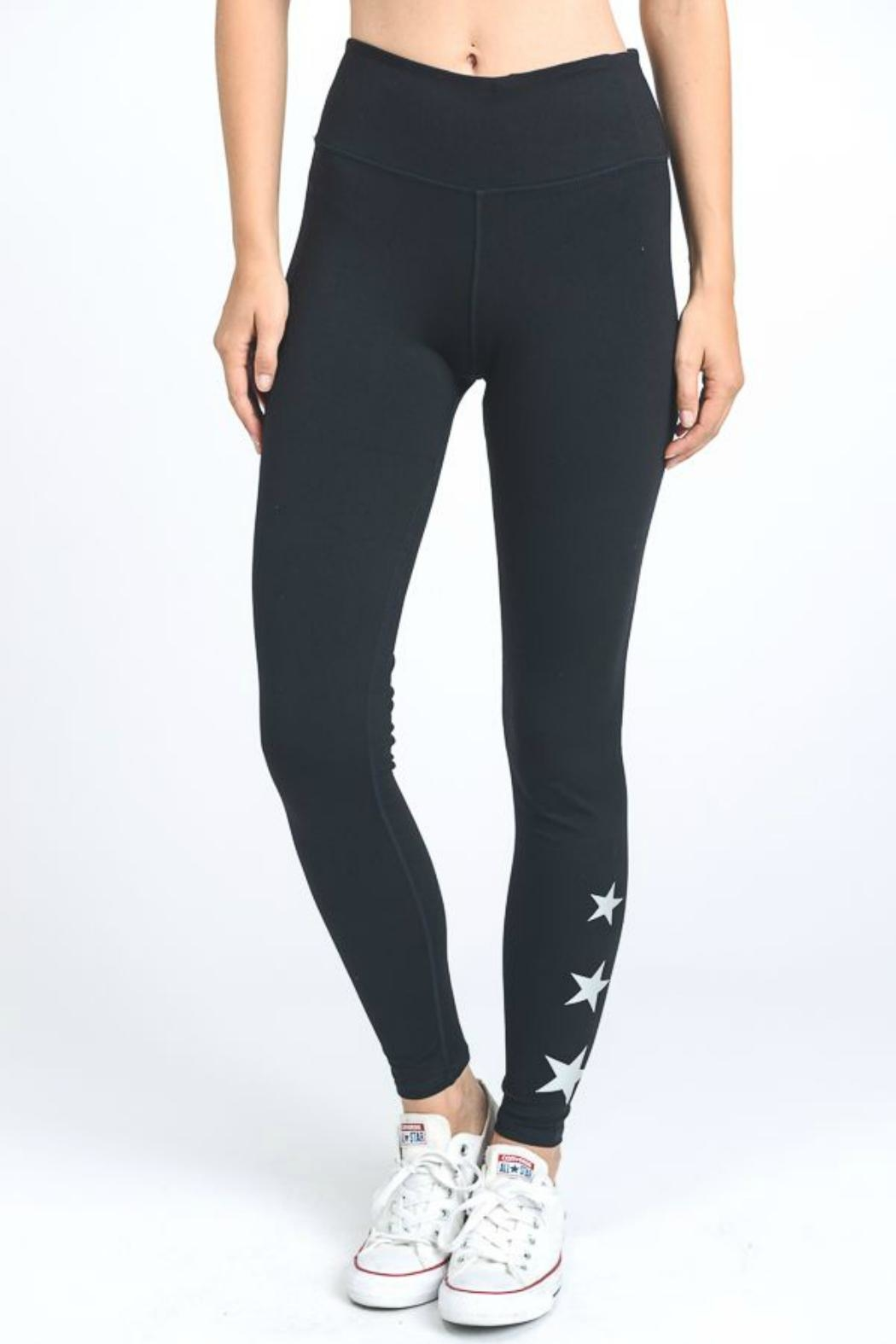 Mono B Star Accent Leggings - Front Cropped Image