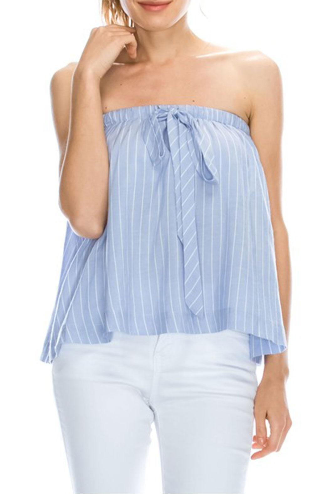 Mono B Stripe Tube Top - Main Image