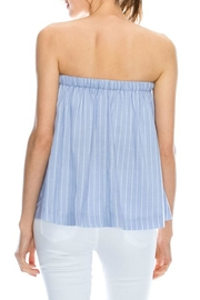 Mono B Stripe Tube Top - Front full body