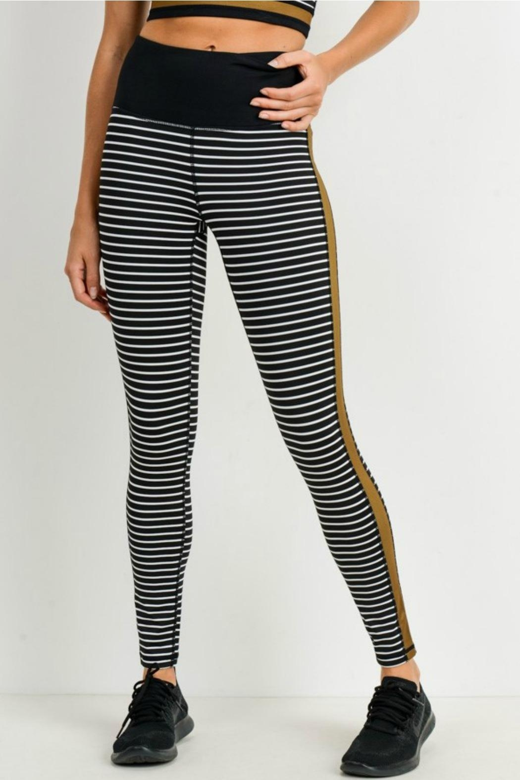 Mono B Striped Colorblock Legging - Main Image