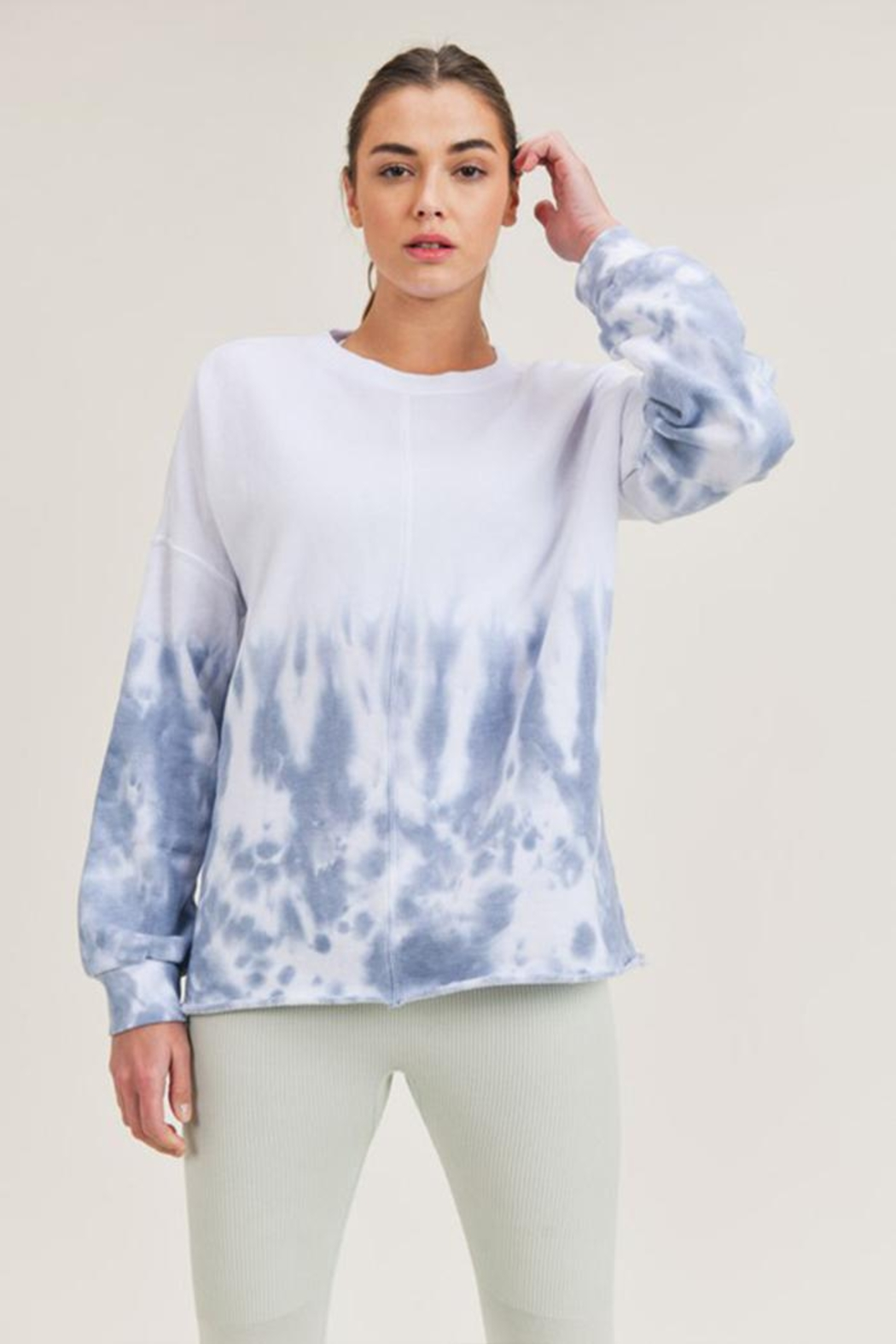 Mono B Tie-Dye Pullover - Front Full Image