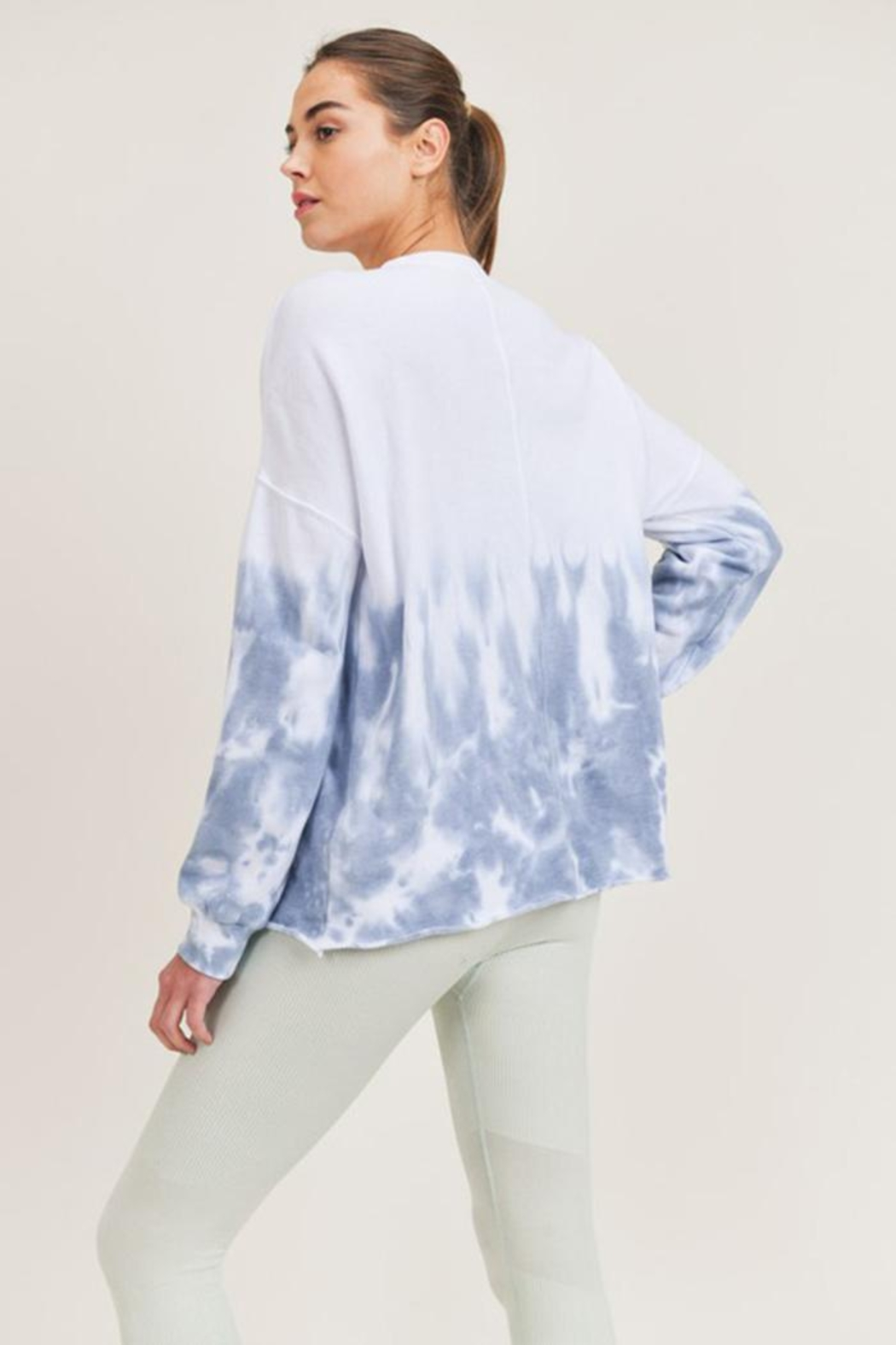 Mono B Tie-Dye Pullover - Side Cropped Image