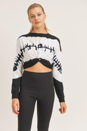 Mono B Twisted Front Tie-Dye Cropped Top - Front cropped