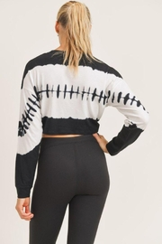 Mono B Twisted Front Tie-Dye Cropped Top - Back cropped