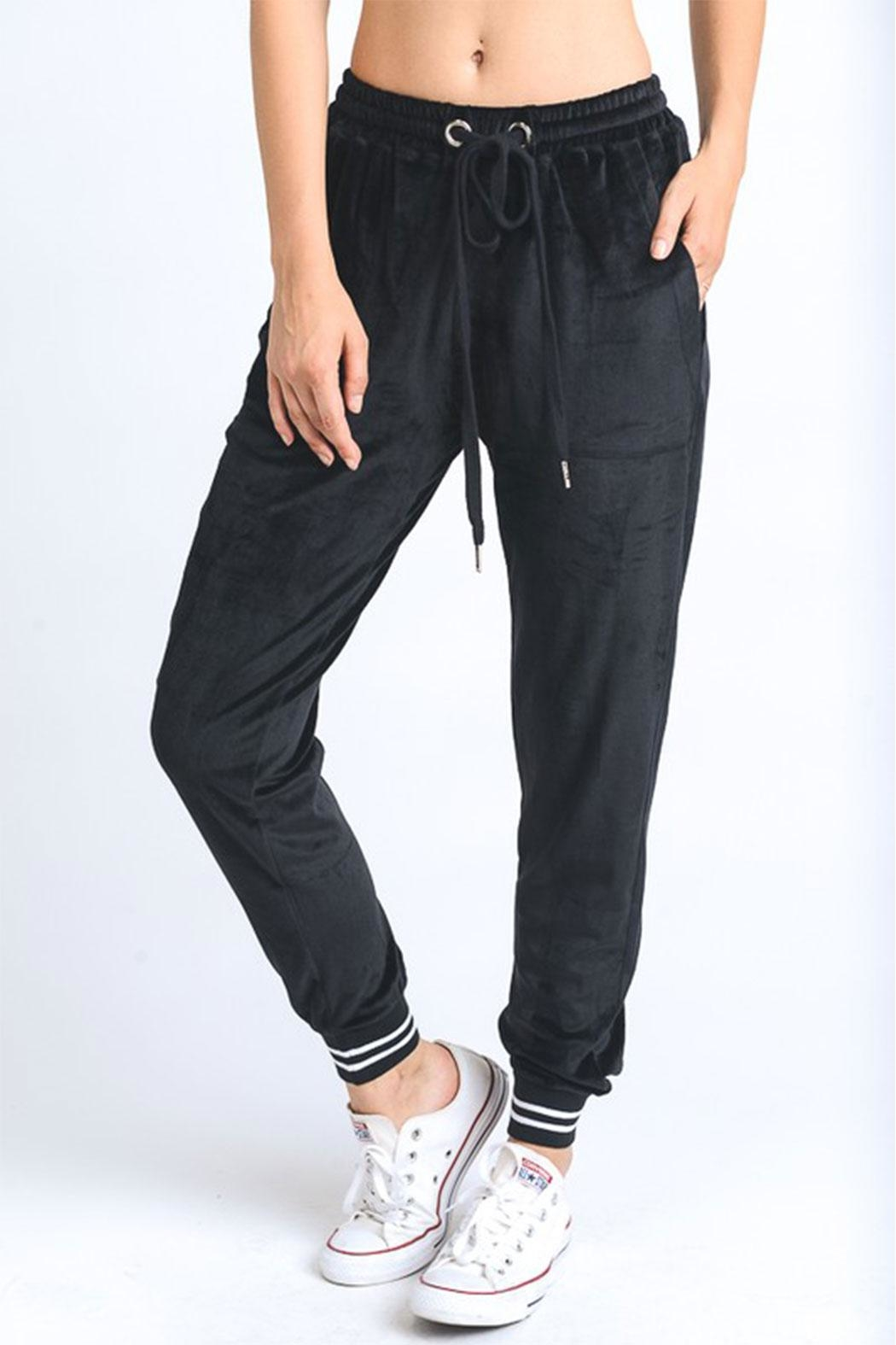Mono B Velour Jogger Pants - Front Cropped Image
