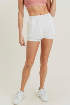 Mono B White Athletic Shorts - Product List Image