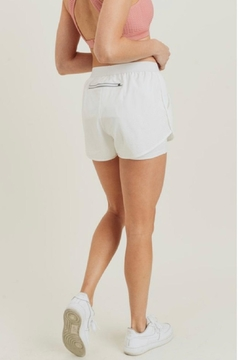 Mono B White Athletic Shorts - Alternate List Image