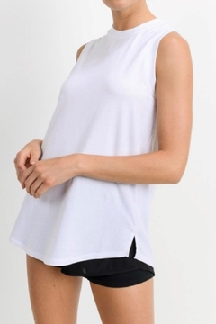 Mono B White Athletic Tank - Product List Image