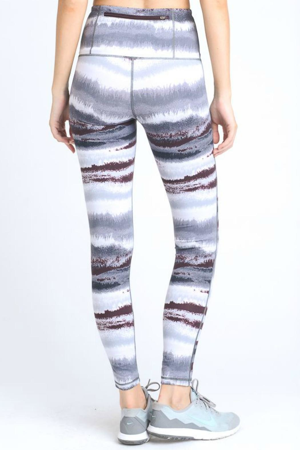 Mono B Zen Print Leggings - Side Cropped Image