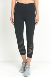Mono B Zigzag Mesh Leggings - Product Mini Image