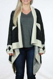 Mono Reno Asymmetrical  Black Cardigan - Product Mini Image