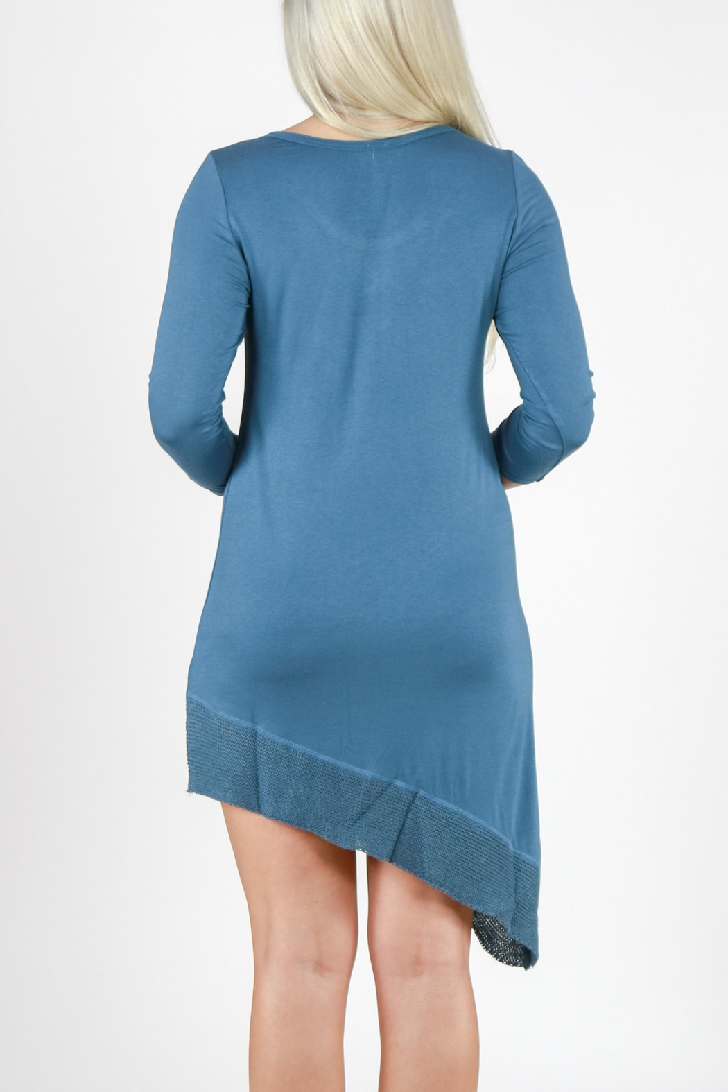Mono Reno Asymmetrical Dress - Back Cropped Image