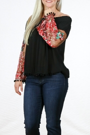 Mono Reno Embroidered Sleeve Top - Other