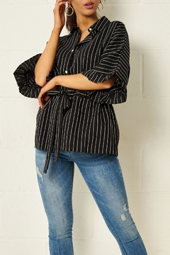 frontrow Monochrome Striped Shirt - Product List Image