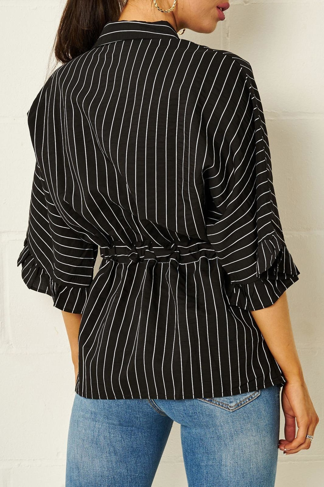 frontrow Monochrome Striped Shirt - Front Full Image