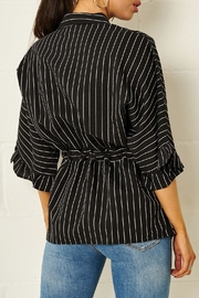 frontrow Monochrome Striped Shirt - Front full body