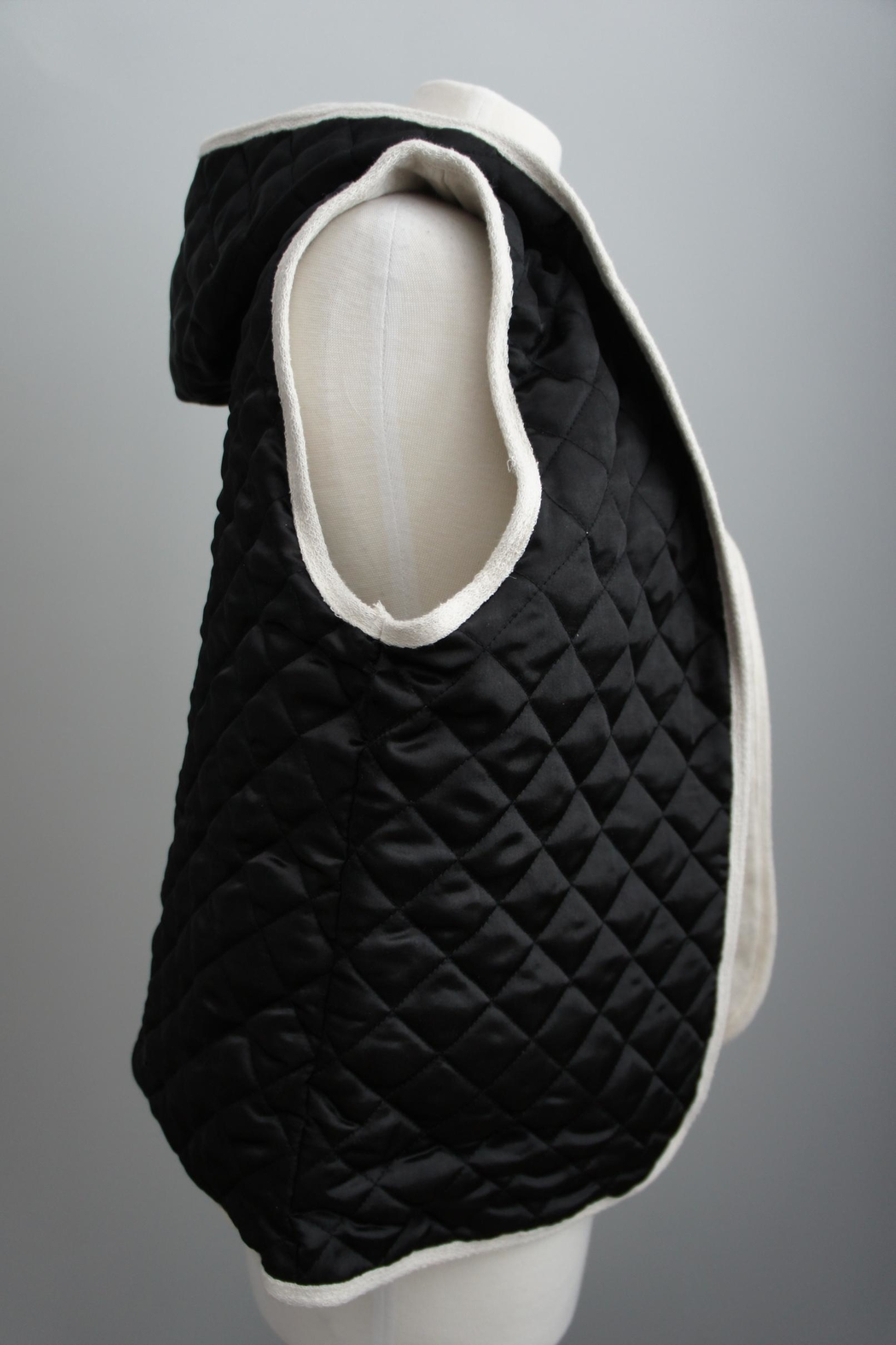 Monocracy Quilted Hoodie Vest - Front Full Image