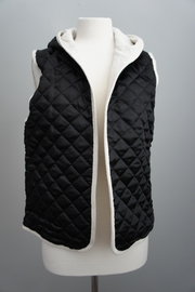 Monocracy Quilted Hoodie Vest - Front cropped