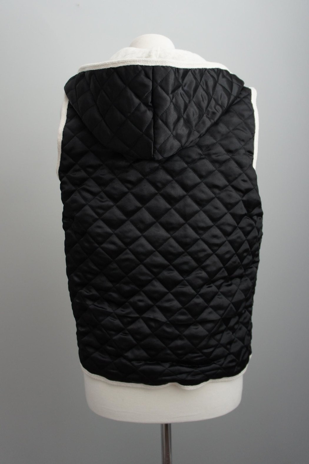 Monocracy Quilted Hoodie Vest - Side Cropped Image