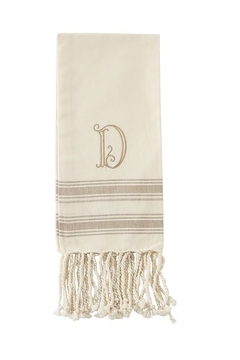 Mud Pie Monogram Turkish towel - Alternate List Image