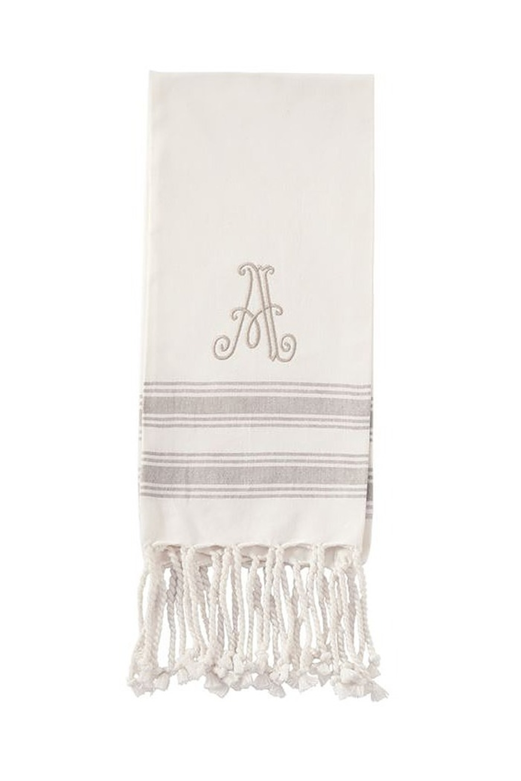 Mud Pie Monogram Turkish towel - Front Cropped Image