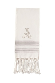 Mud Pie Monogram Turkish towel - Front cropped