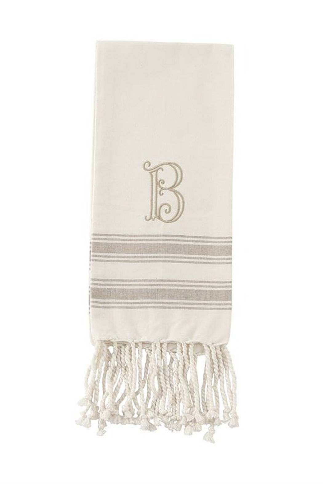 Mud Pie Monogram Turkish towel - Front Full Image