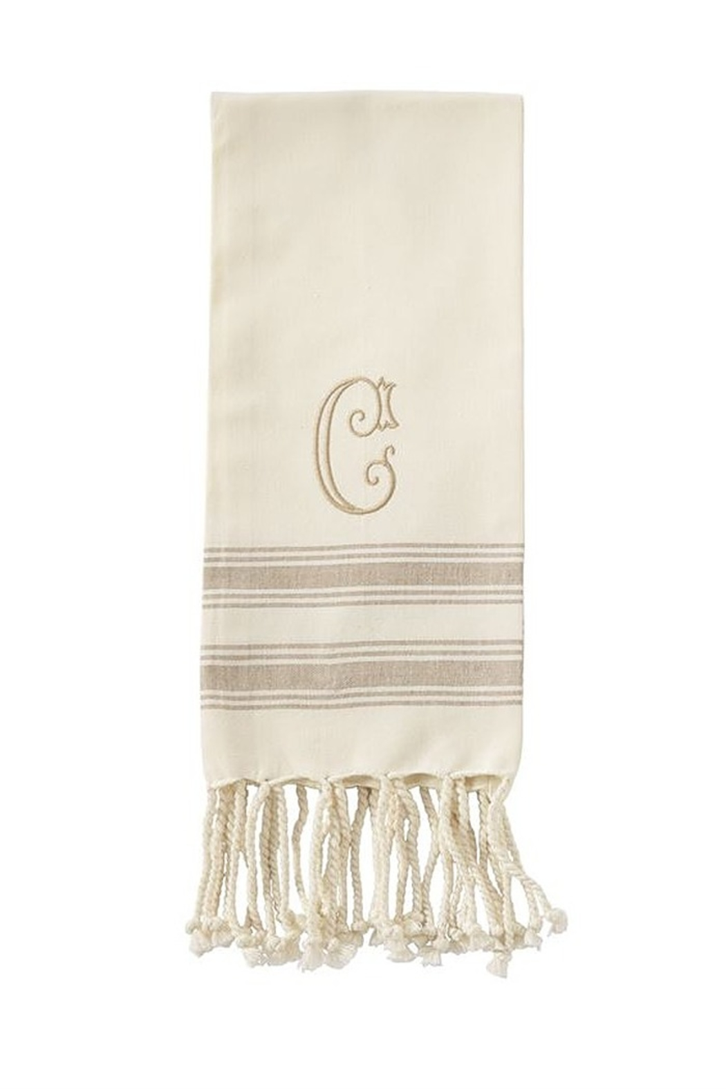 Mud Pie Monogram Turkish towel - Side Cropped Image