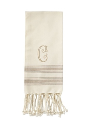 Mud Pie Monogram Turkish towel - Side cropped