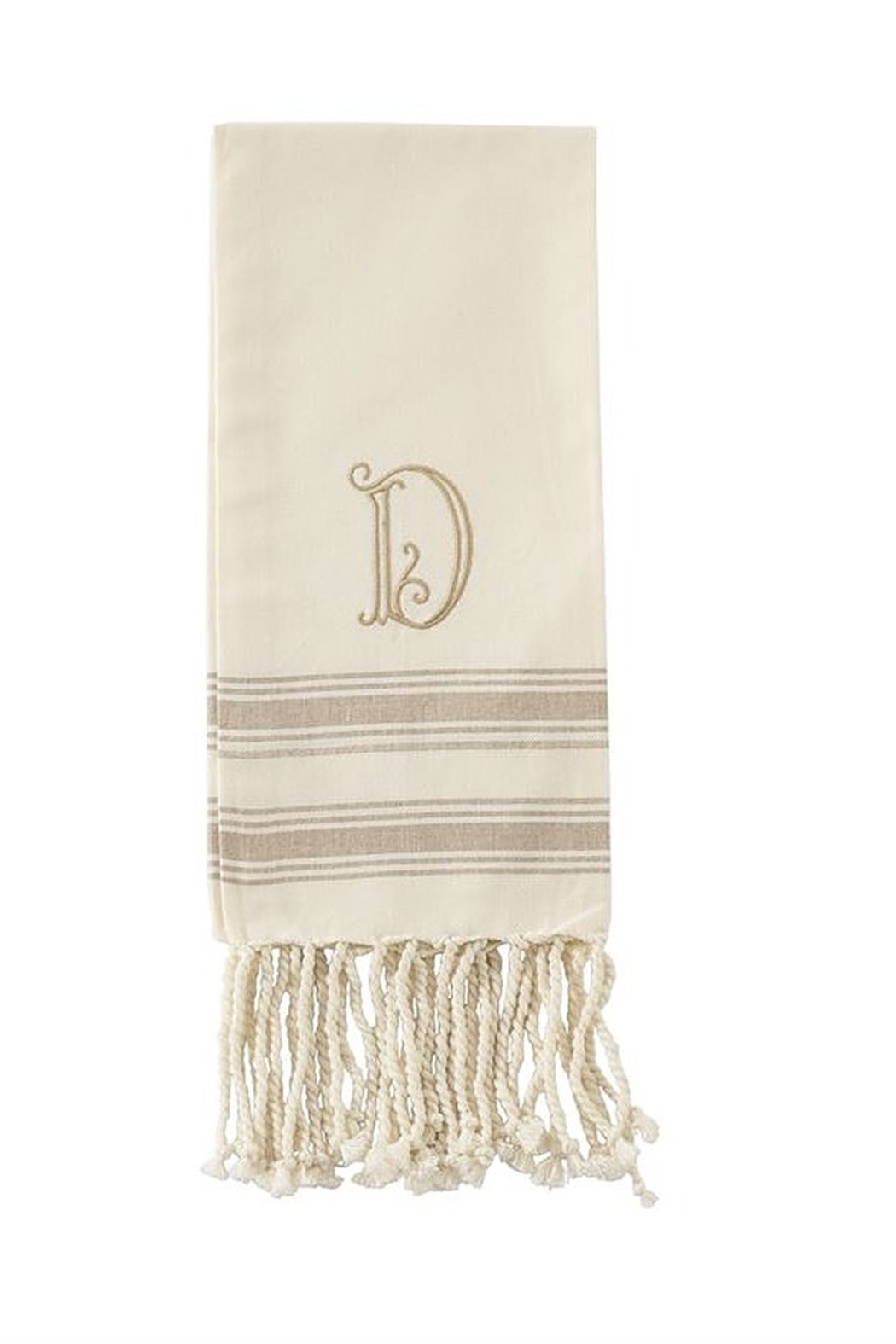 Mud Pie Monogram Turkish towel - Back Cropped Image