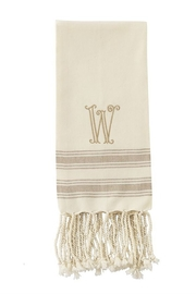 Mud Pie Monogram Turkish towel - Product Mini Image