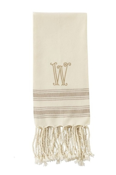 Mud Pie Monogram Turkish towel - Product List Image