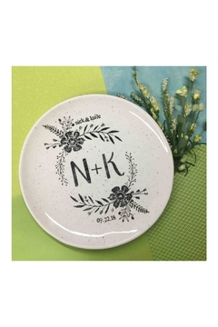 Museware Pottery Monogrammed Wedding Platter - Product List Image