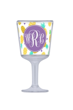 Shoptiques Product: Monogrammed Wine Glass