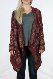 Monoreno Asymmetrical Embroidered Cardigan - Product Mini Image
