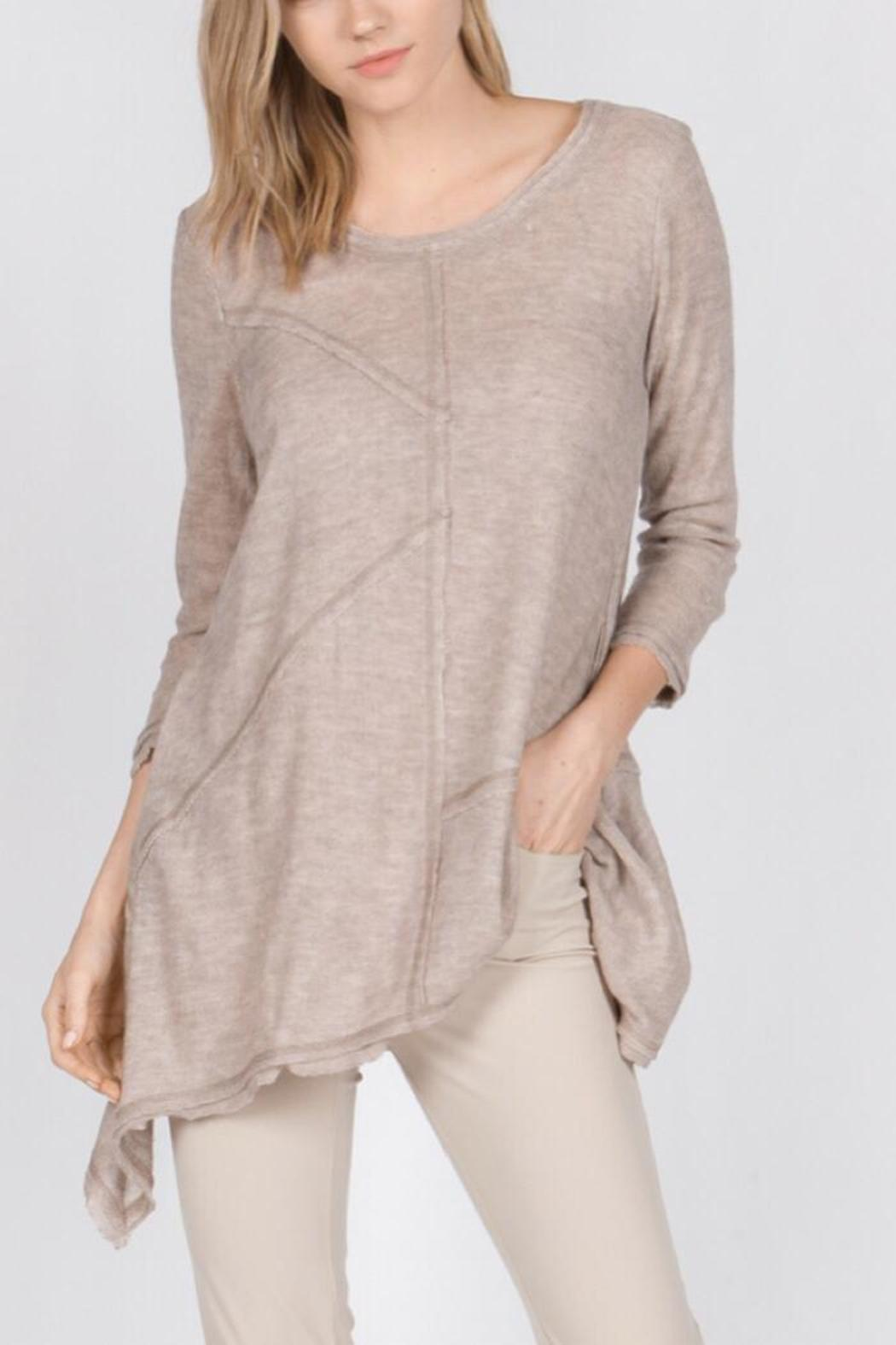 Monoreno Texture Tunic Top - Front Cropped Image