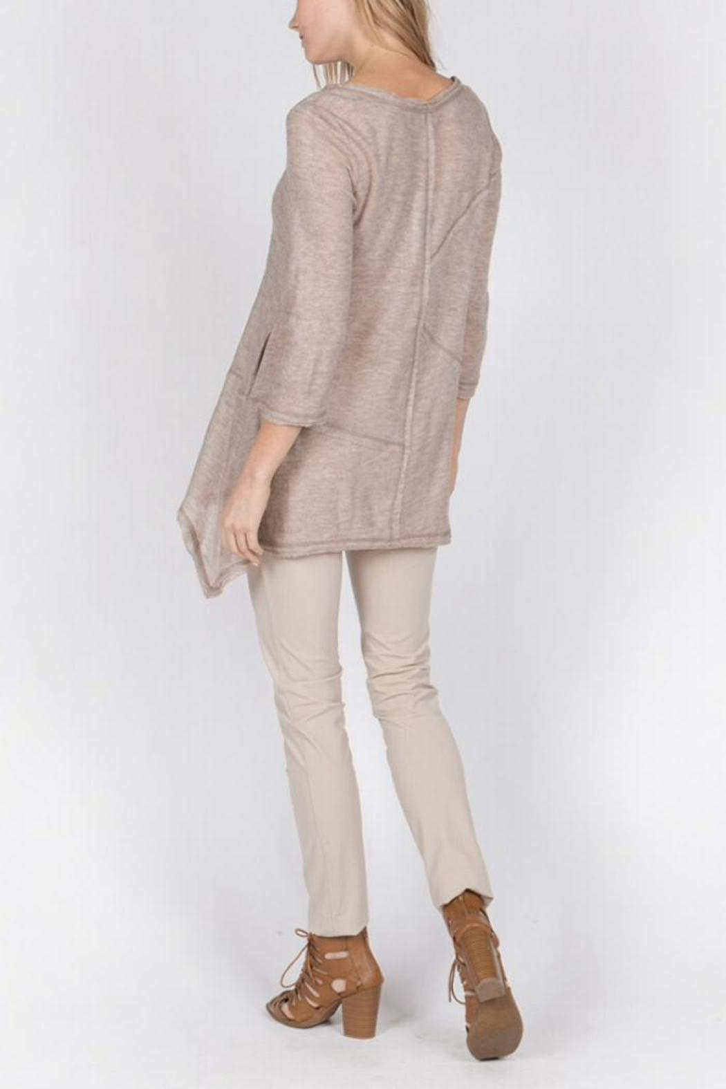 Monoreno Texture Tunic Top - Front Full Image