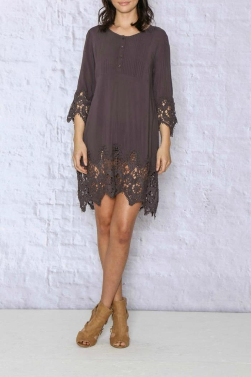 0b3a585ff7 Monoreno Bell-Sleeve Crochet Dress from Atlanta by Collage Boutique ...